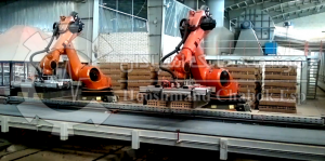 پروژه ربات صنعتی ABB - پلتایزینگ آجر