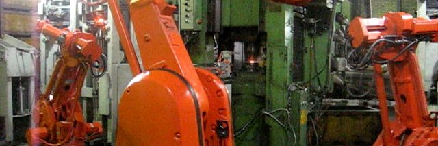 ربات صنعتی abb - pick and place فورج