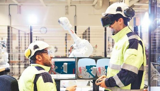 1502053722 1 - ارتباط مستقیم انسان با ربات صنعتی